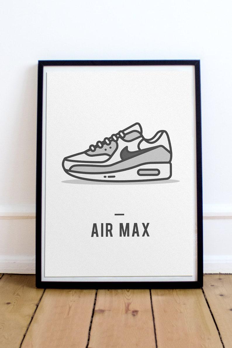 96ce8c6ab799 Nike Air Max Poster Sneaker Art Poster Sneakerhead Gift