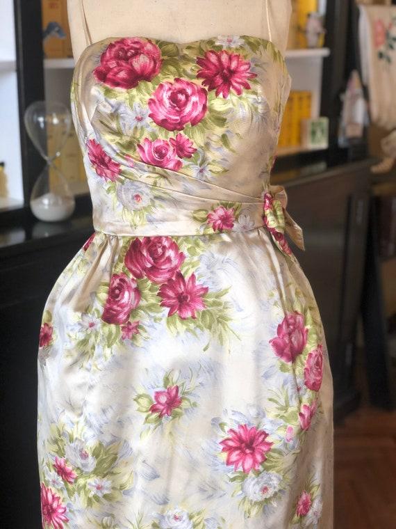 1950s Frank Starr original designer gown in rare v
