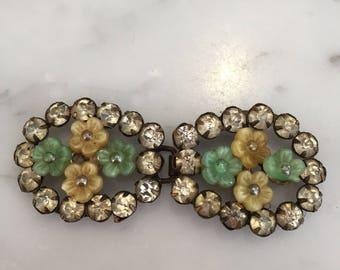 Art deco 1920s jewelled belt buckle