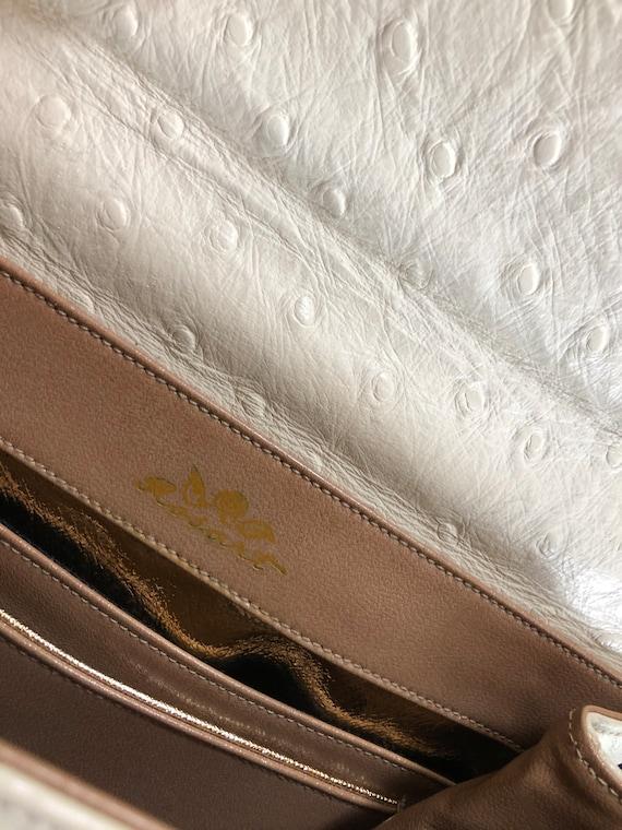 1950s vintage ostrich leather evening purse - image 10