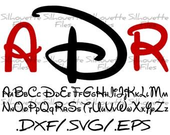 Disney Silhouette Alphabet Font Design For Use With Your Silhouette Cameo Disney SVG Disney DXF Disney EPS