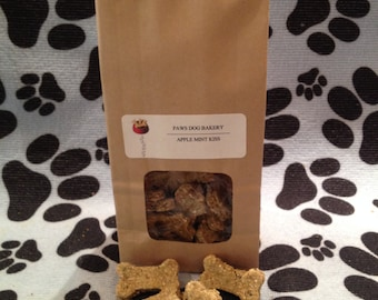 Apple Mint Kiss Dog Treats - 100% All  Natural, Healthy, Wheat Free and No Preservatives.