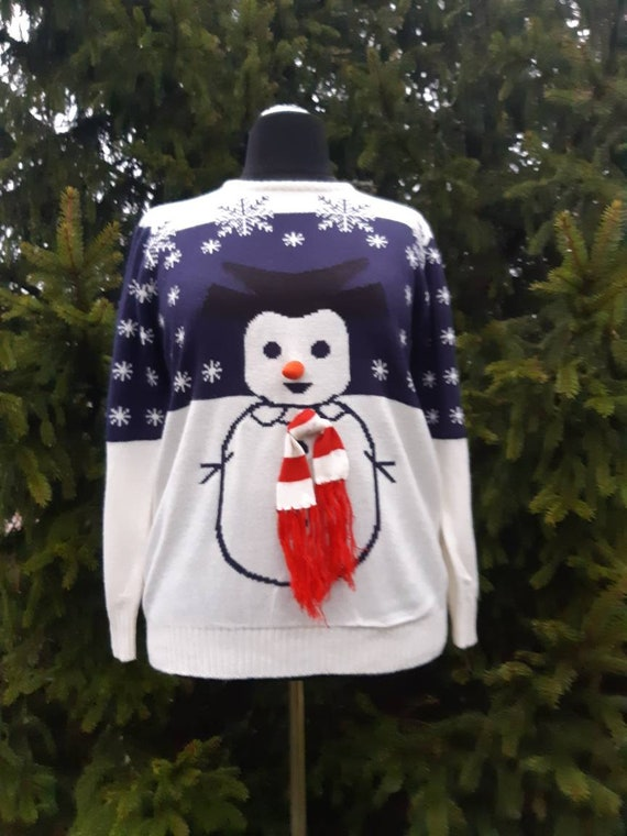 Vintage sweater/Christmas Sweater/ Knitted/ Sweate
