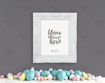 Download Free 8x10 portrait easter frame mockup / Styled stock photography / Instant download / #9359 PSD Template