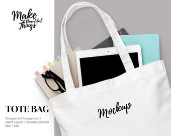 Download Free Isolated canvas tote bag mockup / Fully customizable / Styled stock photography / Instant download / #7012 PSD Template