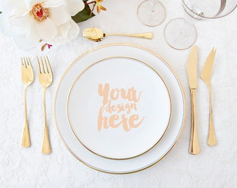 Table setting styled stock photography / Instant download / Place setting / wedding style