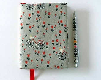 A6 Fabric covered notebook, (lined paper)