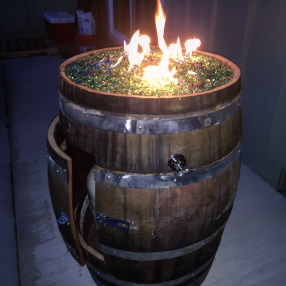 image 0 - Whiskey Barrel Fire Pit DELUXE EDITION Etsy