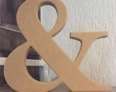 Any 3 Large Wooden Letters - 20cm Large Letters - Large Letters, Big Letters, Home Decoration, Wedding Decoration, Set of 3, Star Shape