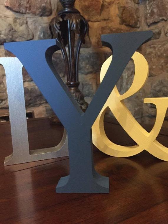 Azul Marino 13cm independiente grandes letras de madera y /& signos símbolos