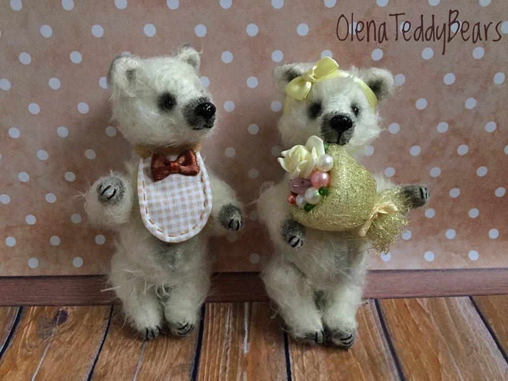2401ba3dccd Wedding teddy bears miniature Teddy toys