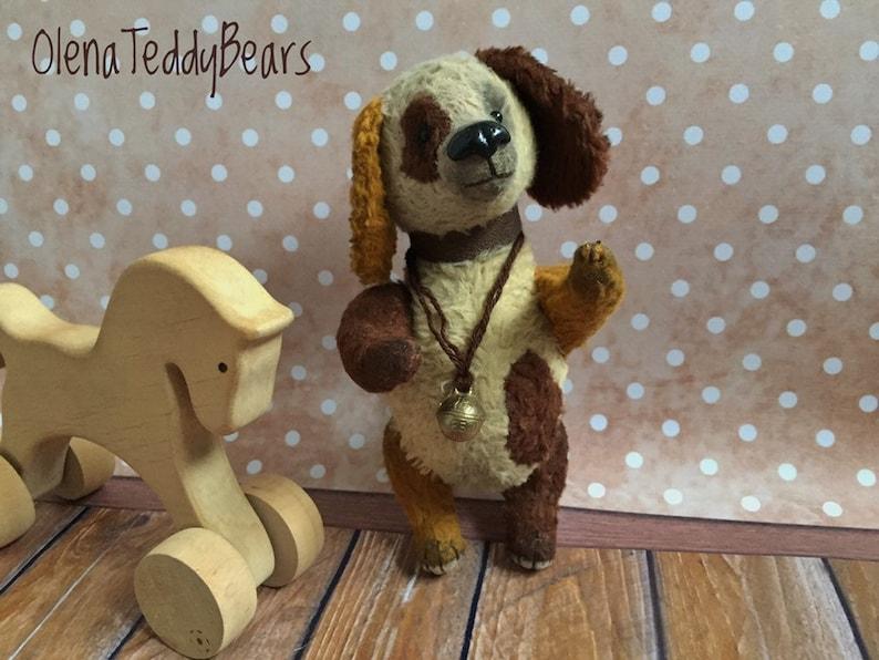 collectible vintage style interior toy artist bears handmade OOAK teddy gift animals teddy toys stuffed teddy toy Dog miniature