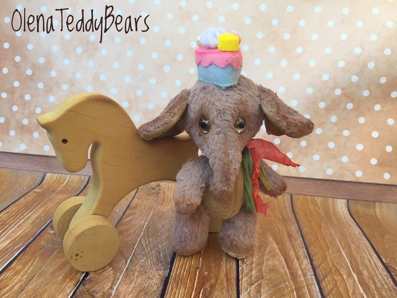 collectible small toy Mini elephant teddy