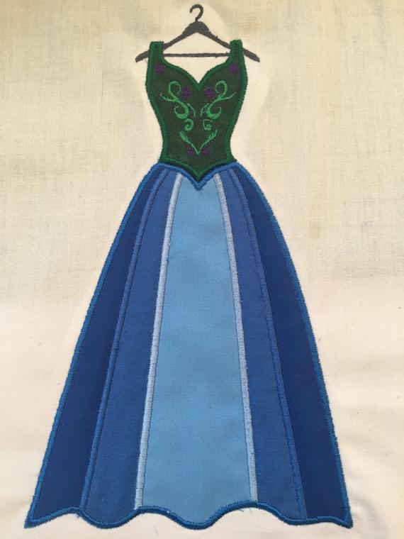 Disney Princess Anna Inspired Dress SVG DXF PNG Cut File