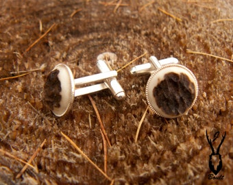Silver Plated Antler Cufflinks