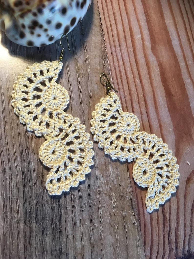 66. ONE Crochet Earrings Pattern Crochet Earring pattern image 0