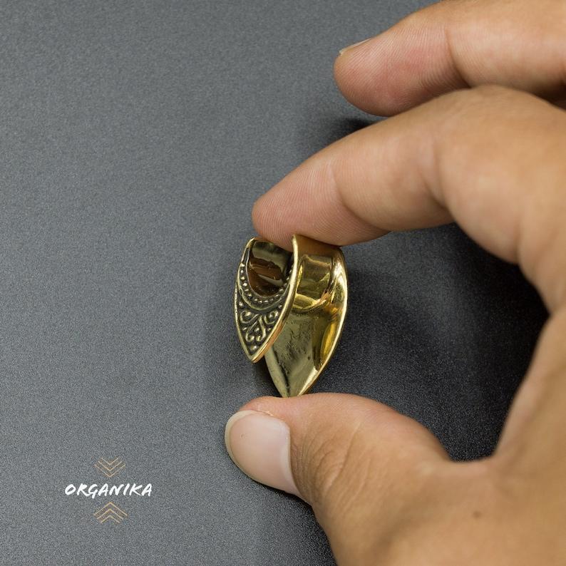 12 0g - PAIR Brass -6mm Ear Saddle Spreader 00 -8mm -12mm 2g Tunnel -10mm