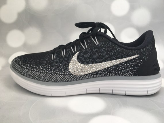 Nike Free RN Distance in Black   Grey   White   Embellished  d05d5661bbc5