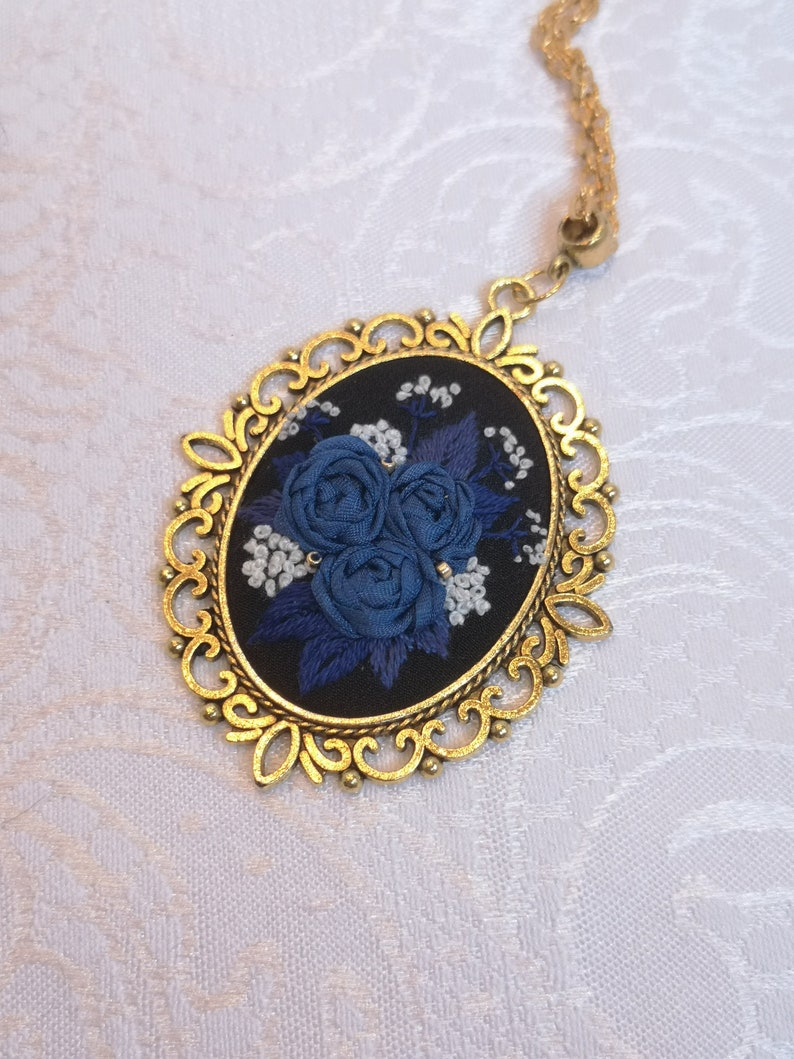 Sapphire rose mystery necklace 2 image 0