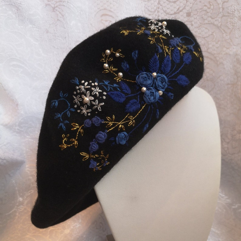 Sapphire rose mystery beret image 0