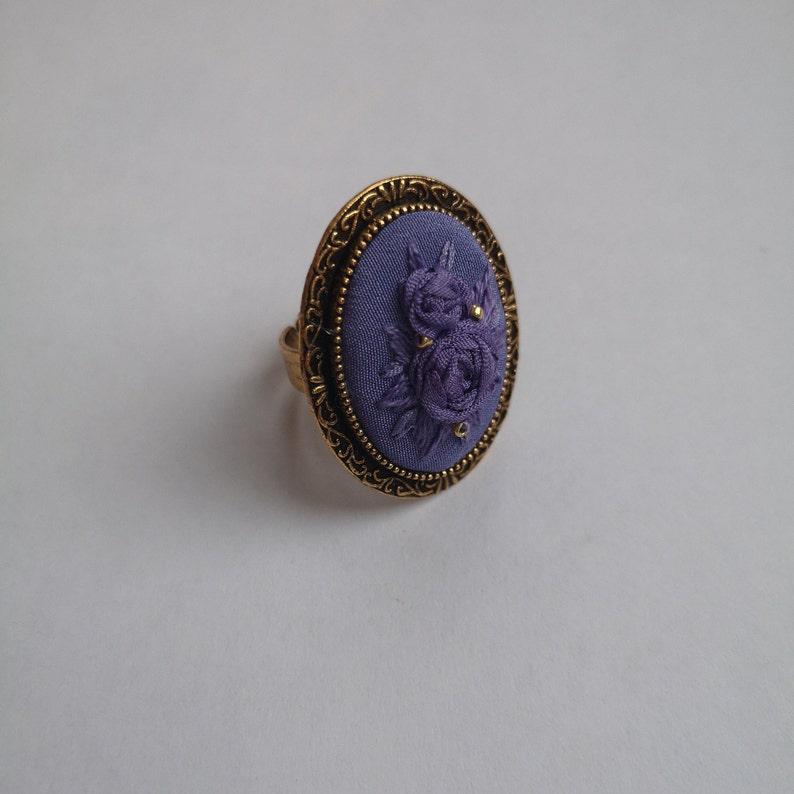 Purple roses ring image 0