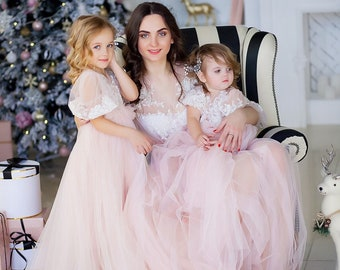 680c1d66b8 Light pink mother daughter matching dress, Mommy and me outfits, Mother  daughter dress, Photo shoot, Photo session maxi dress