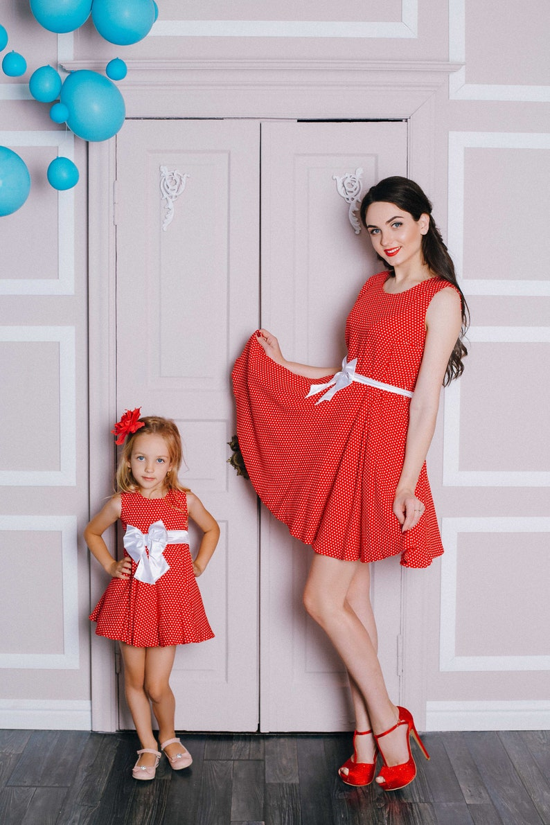 2e46d930c Red mommy and me outfits Mother daughter matching dress | Etsy