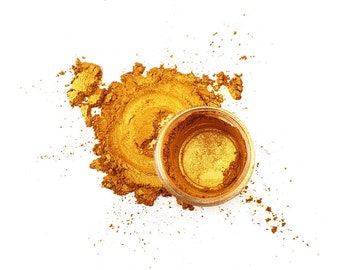 Ethically Sourced Premium Mica Powder 5g Doubloon Gold Natural Pigment-Safe Dye for Resin, Crafts & Art (Fast shipping from the UK)