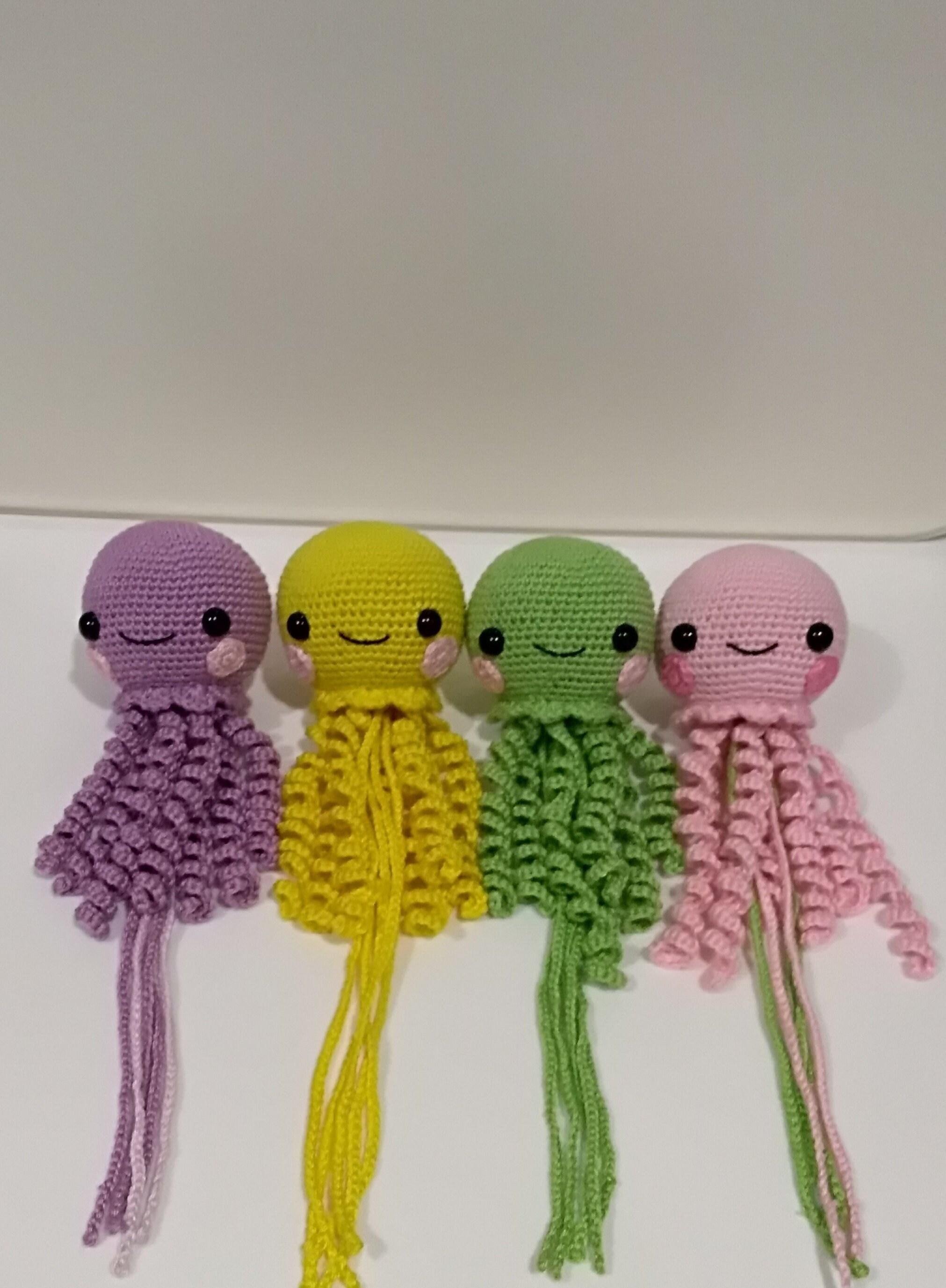 Cute Crochet Octopus Toy For Preemie Crochet Jellyfish Toy Etsy