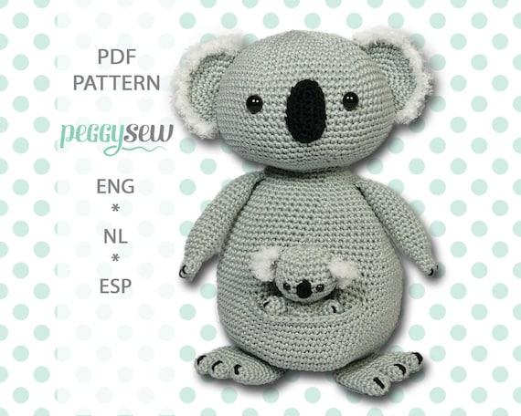 Amigurumi Crochet Pattern Koala Mother And Baby Pdf Ebook Etsy