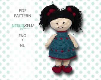 Isabel doll, amigurumi crochet pattern