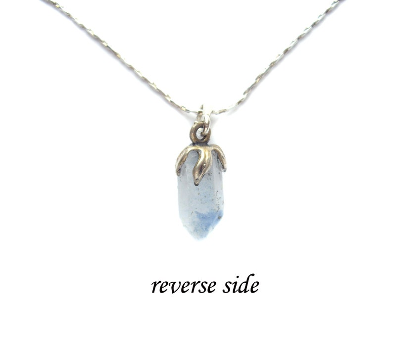 Crystal necklace Quartz necklace Dainty necklace Natural stone necklace Everyday necklace Sterling silver necklace Gift for women Mom gift