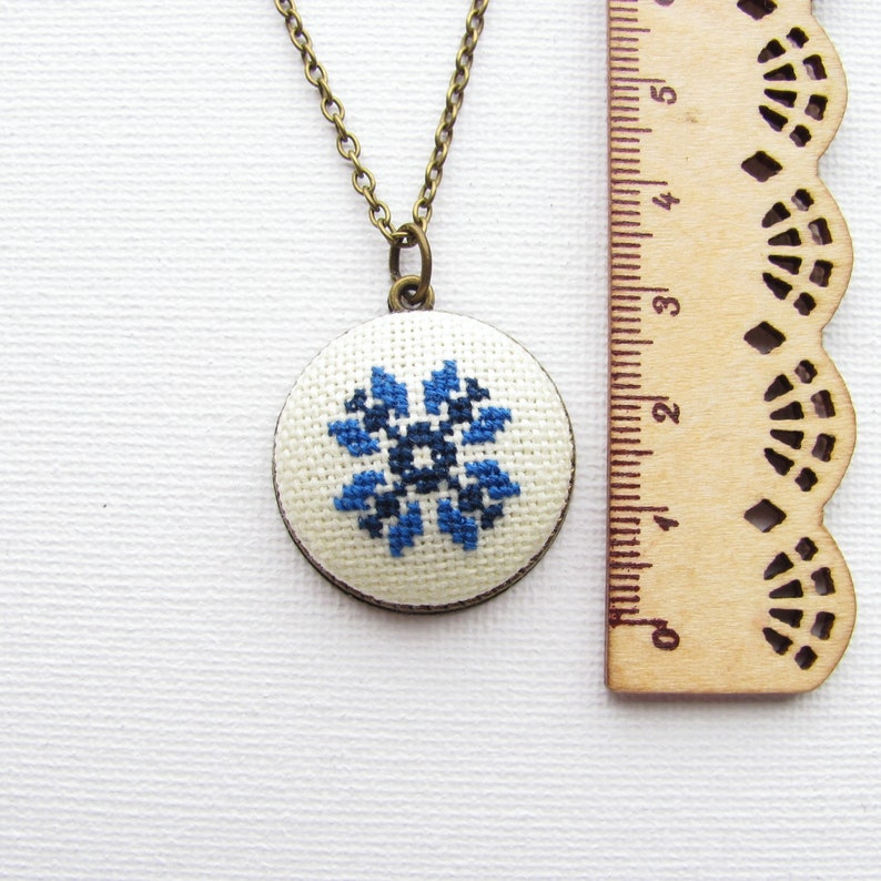 everyday necklace Christmas gift for mom Blue necklace boho gift for wife blue pendant necklace gift for sister
