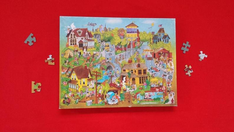 Springbok 500 Piece Puzzle Pops-Town Complete Nice Box vintage