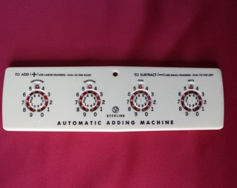 Automatic Adding Machine by Sterling Vintage Hand Held Counting Device