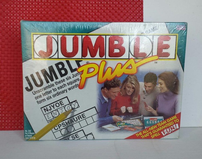 Jumble Plus Board Game NIB Vintage 1999 Factory Sealed