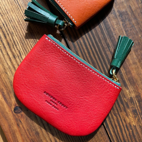Tomato Red Squares zipped card holder
