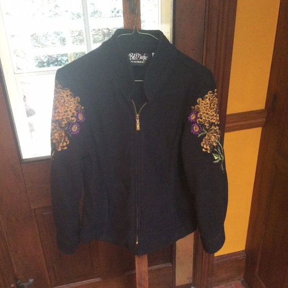 Bob Mackie /Women's /Black/ fleece jacket.