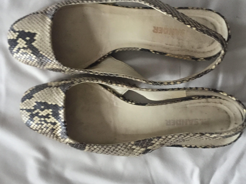 jil sander... chaussures chaussures chaussures en peau de python 080955