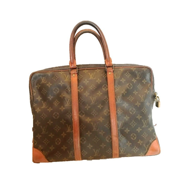 66c8f039d465 Louis Vuitton Monogram Canvas Porte Documents Voyage Briefcase