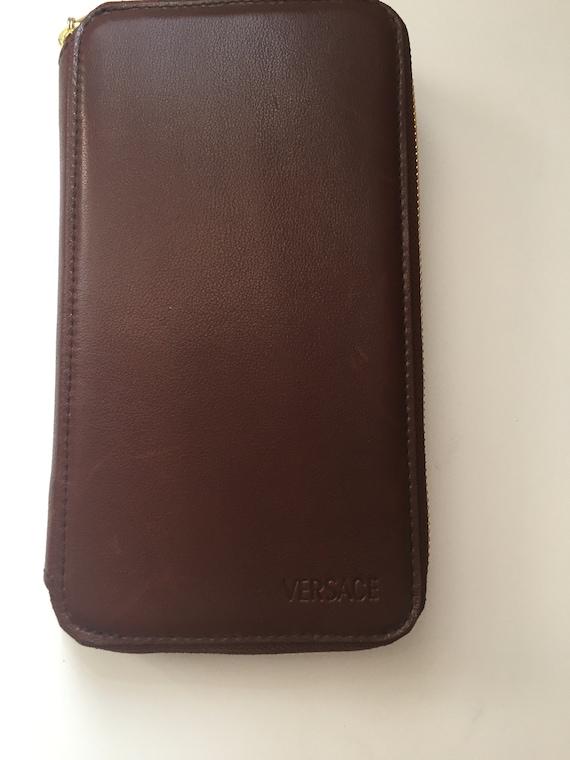 Vintage Gianni Versace Brown Wallet - image 2