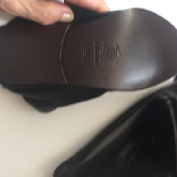 Gianni Versace Leather Travel Slippers in Leather… - image 8