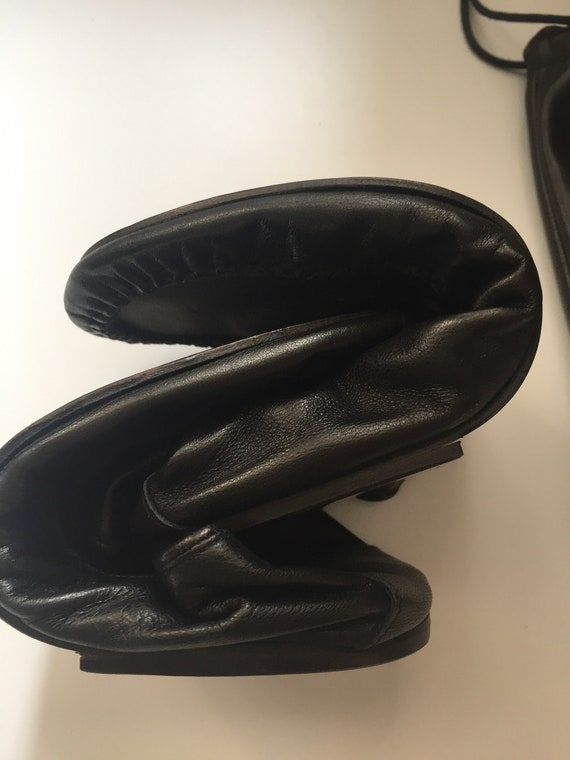 Gianni Versace Leather Travel Slippers in Leather… - image 9