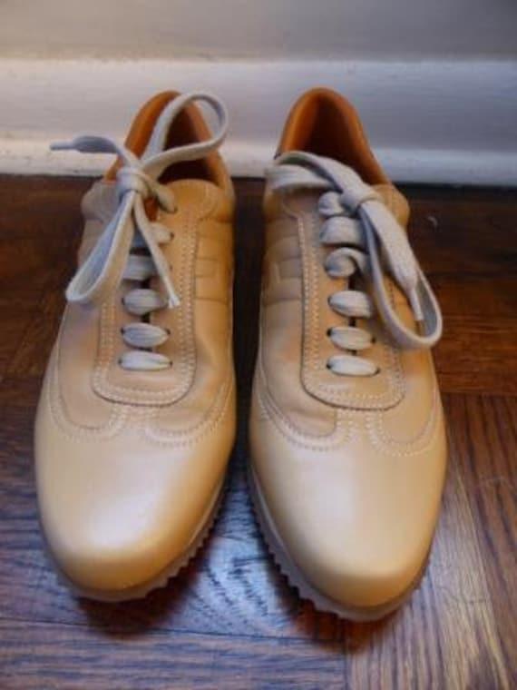 HERMES  Vintage  Women  Leather Sneakers