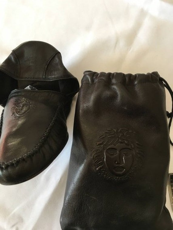 Gianni Versace Leather Travel Slippers in Leather… - image 7