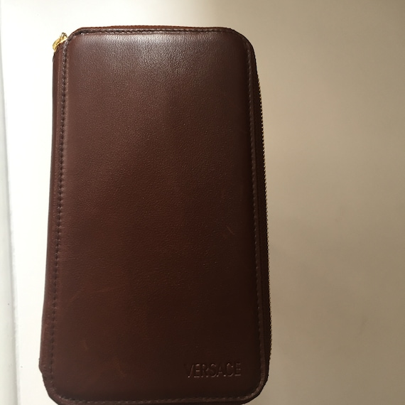 Vintage Gianni Versace Brown Wallet - image 3