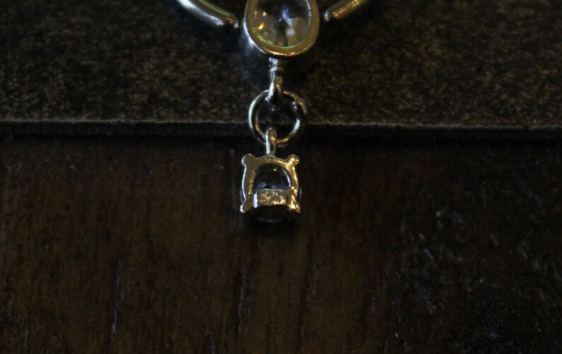 Silver Dangling Captive Bead Rings 90/'s VintageFREE SHIPPING