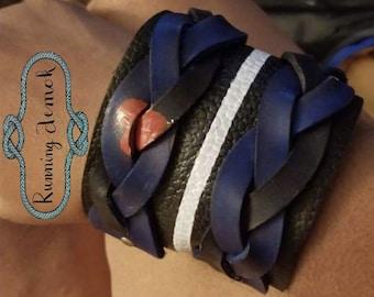 Leather Pride Locking Cuffs