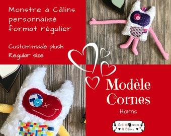 Custom order for Hug Monster,monstre à câlins,personalized handmade plush,Stuffed Monster,perfect gift for kids,baby shower or birthday