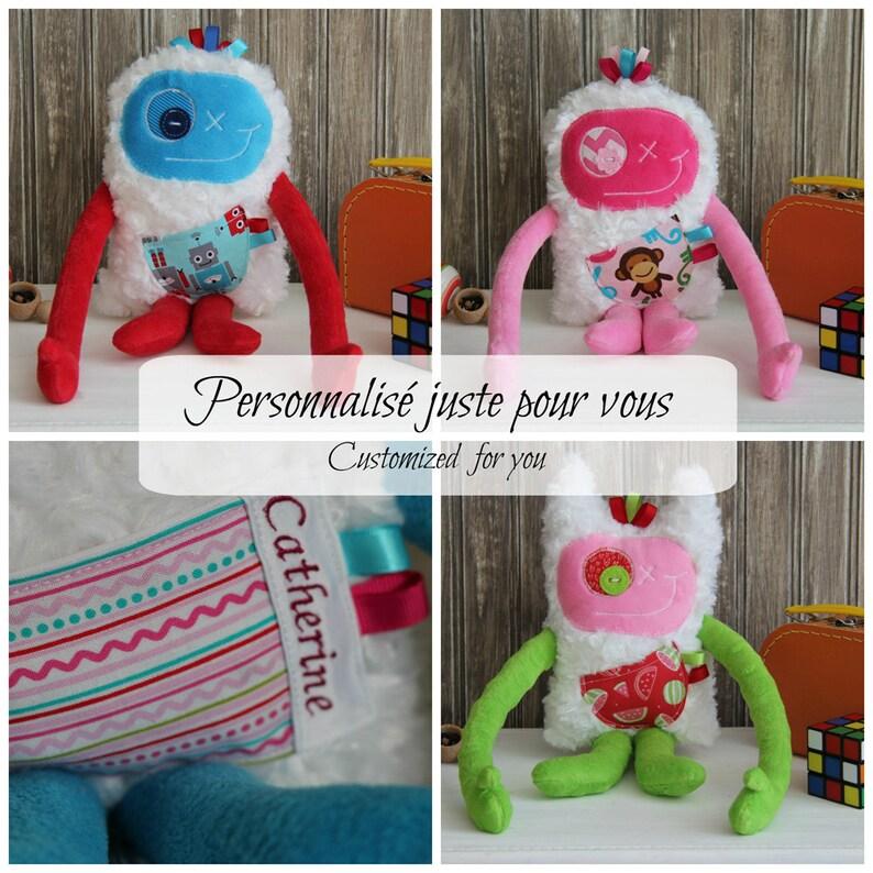Custom order for Hug Monster plush for kid handmade plush image 0